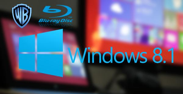 play WB Blu-ray on Windows 8.1 tablets