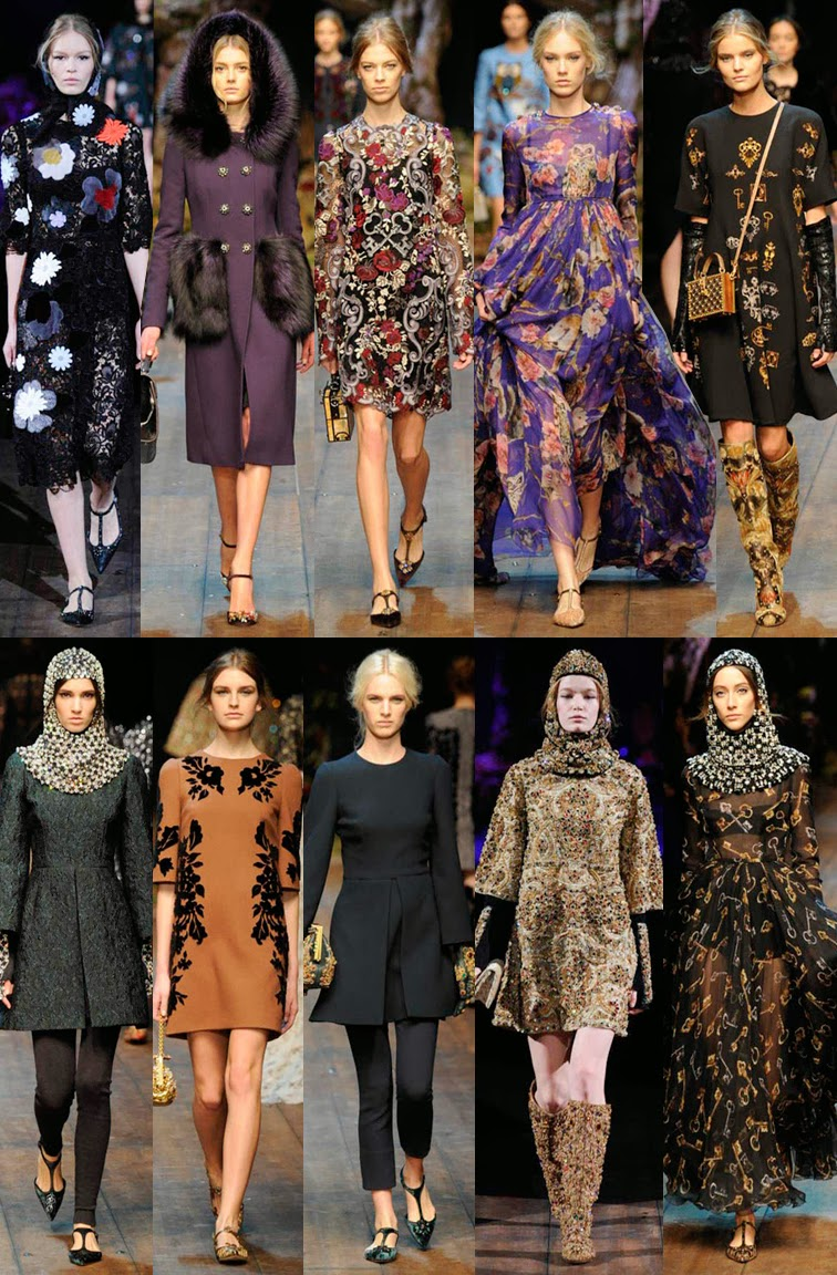 Dolce & Gabbana fall winter 2014 runway collection, FW14, AW14, MFW, Milan fashion week