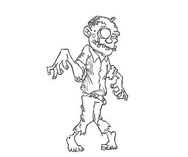 #4 Zombie Coloring Page