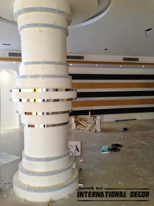 decorative columns, fiberglass columns, interior columns,modern columns