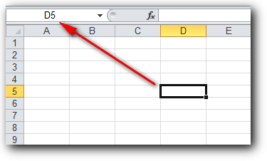 nama cell di Ms Excel