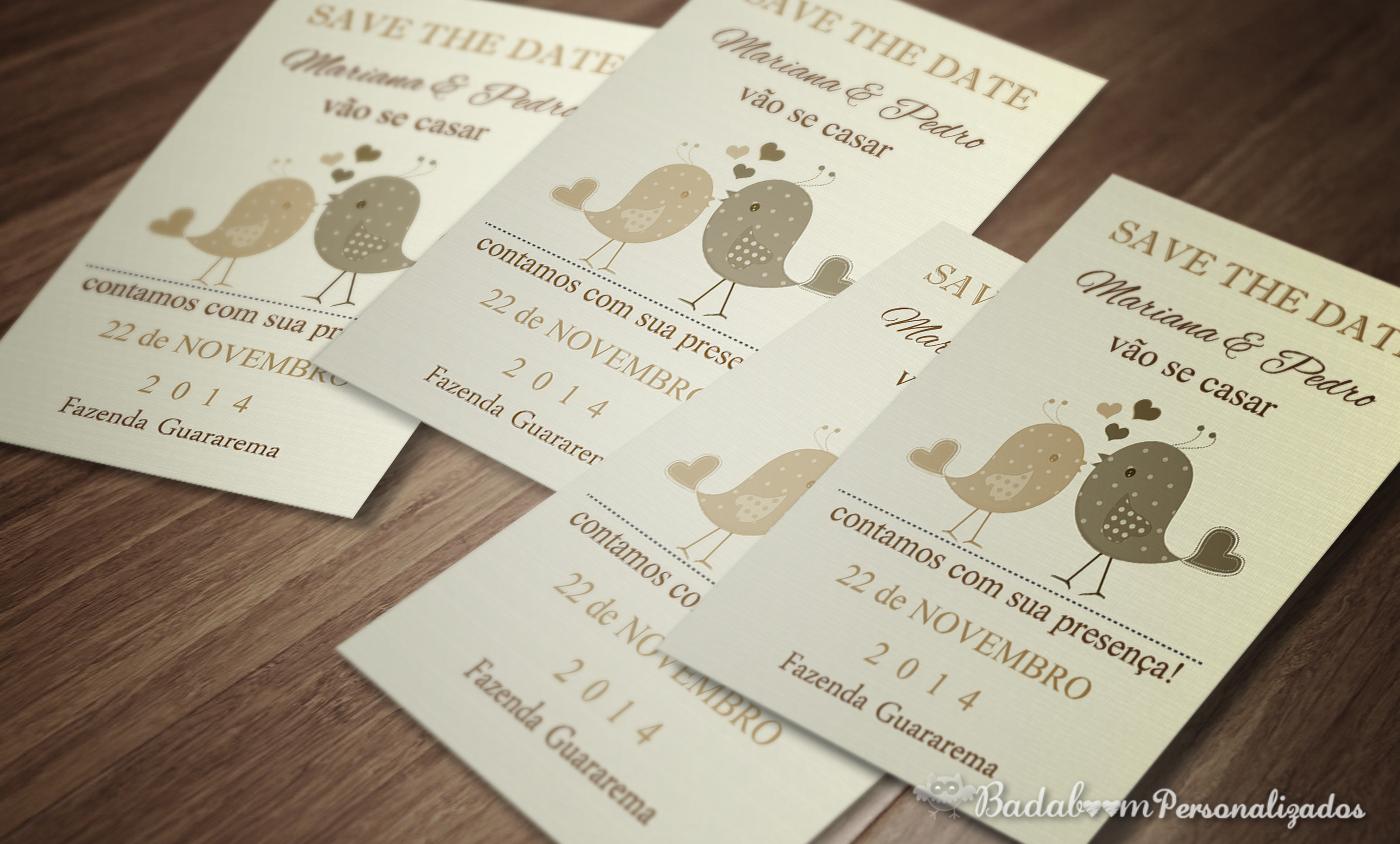 artes digitais, kit digital, save the date, casamento, convite, passarinho