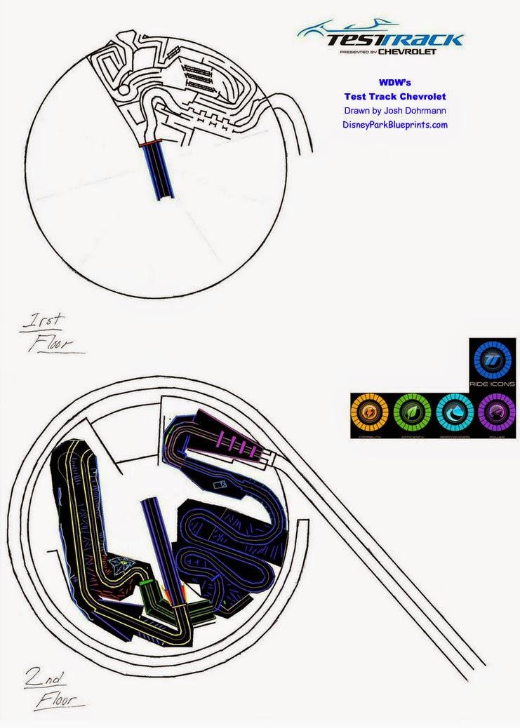 Disney park blueprints test track ii chevrolet epcot flus test track ii chevrolet epcot flus malvernweather Image collections