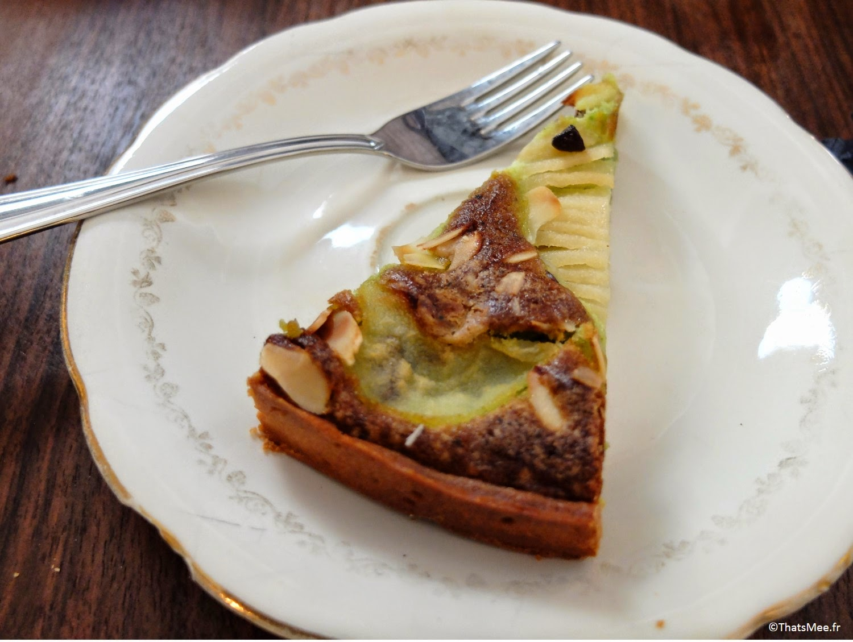 La Chambre Aux Oiseaux Brunch tarte pommes et pistache fait maison