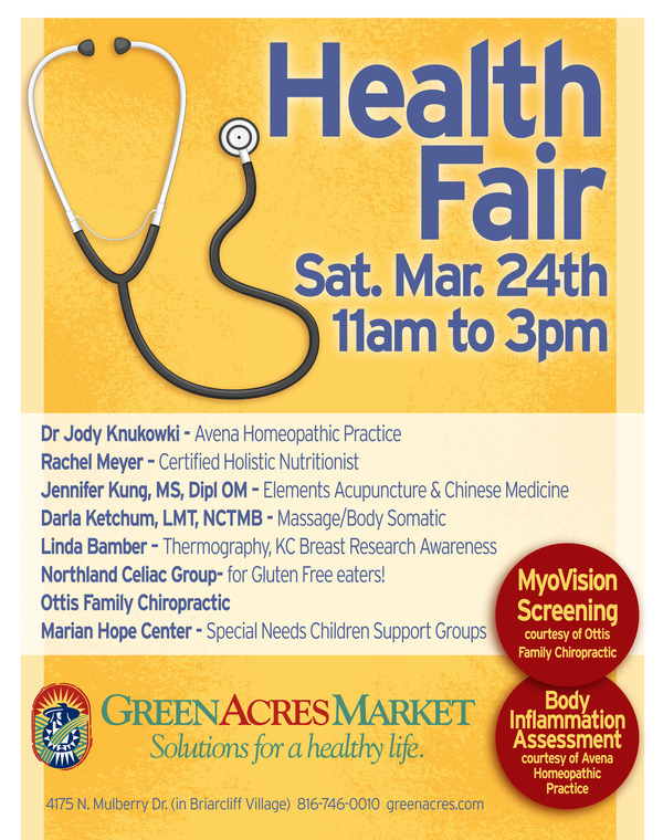 Health Fair Flyer Template - Wellness flyer templates free