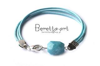 akwamaryn bransoletki niebieskie