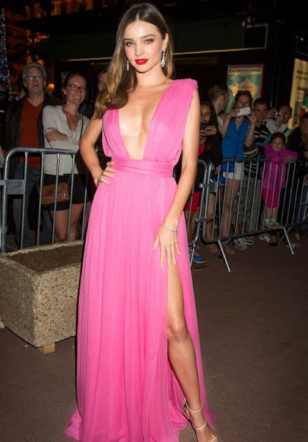 Miranda Kerr – Magnum Pink and Black Launch at Magnum Beach