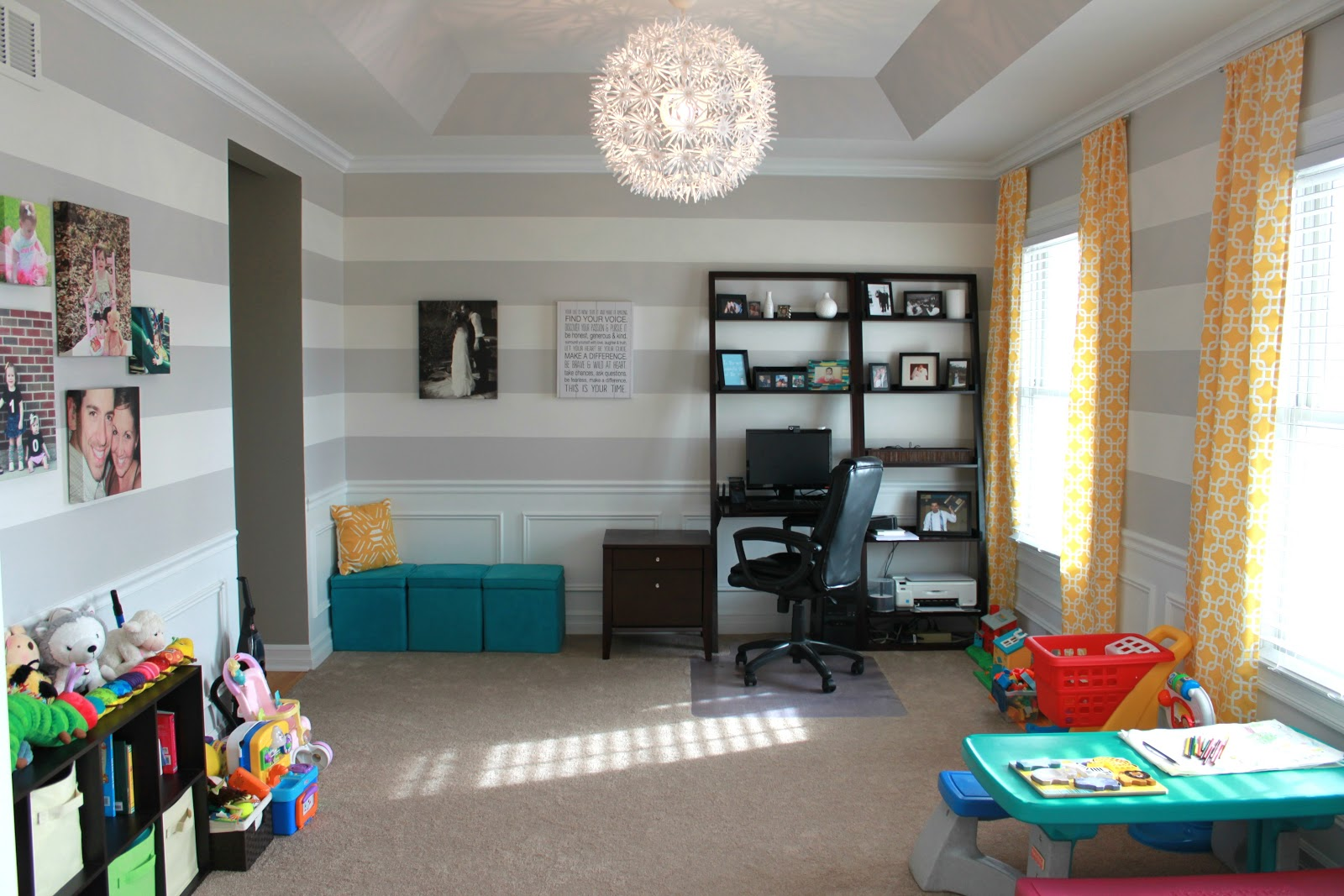 All things diy playroom makeover for Office playroom