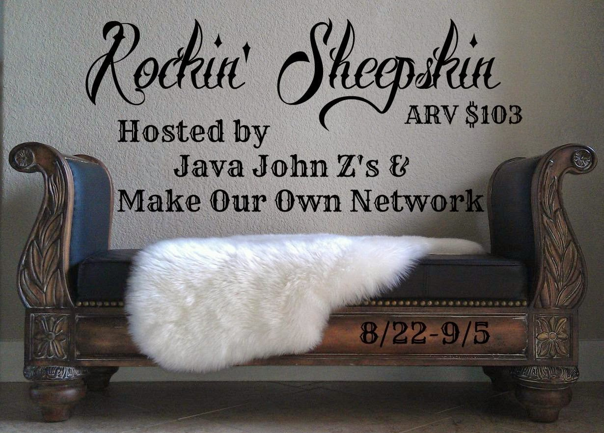 Enter the Rockin' Sheepskin Giveaway. Ends 9/5.