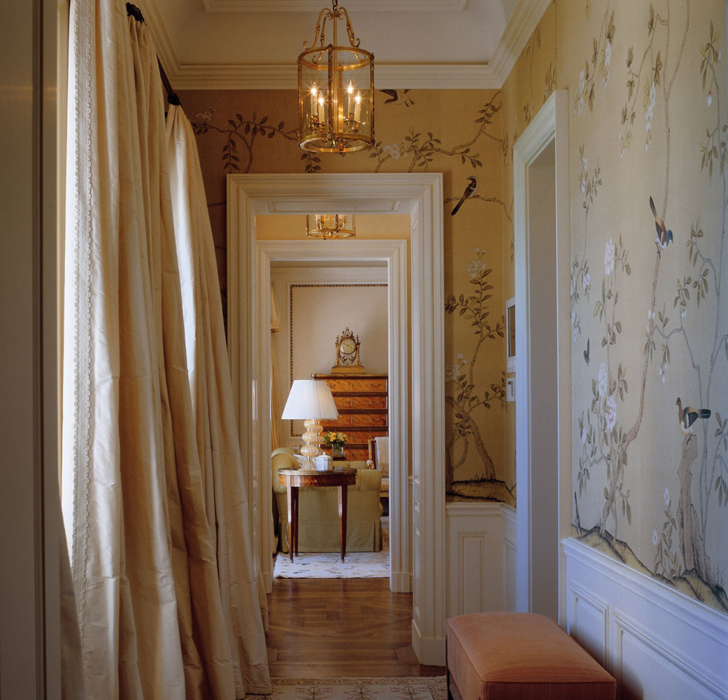 Country home treasures gorgeous wallpaper for Wallpaper for hall walls