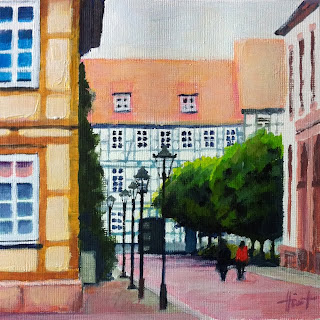 Walking down Paulinerstrasse by Liza Hirst