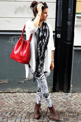 silk chiffon skull scarf