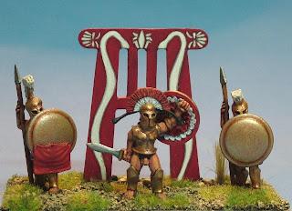 News intéressantes [historique] 28mm+Greek+Spartan+King+Leonidas+wargame+figure+1st+corps+model+soldiers+Greek+General1