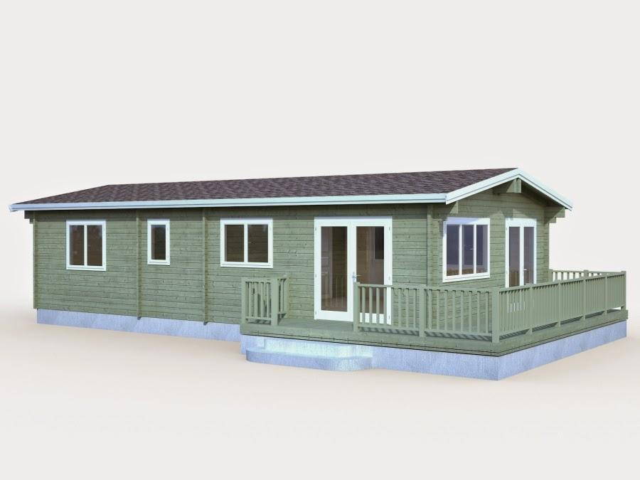 Casas de madera baratas bungalow de madera n rdica con - Fotos de bungalows de madera ...