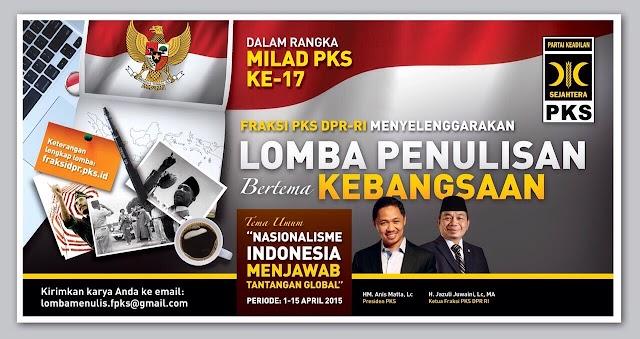 Fraksi PKS Gairahkan Semangat Nasionalisme Lewat Lomba Penulisan