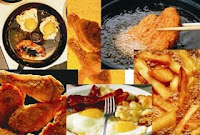 frituras e alimentos gordurosos