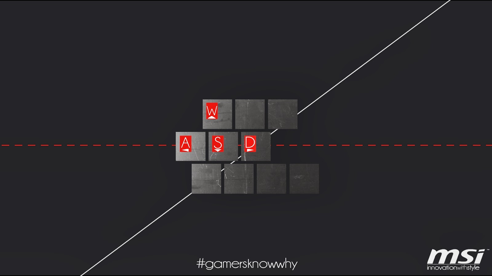 MSI WASD Gamers Know Why Widescreen HD Wallpaper J02