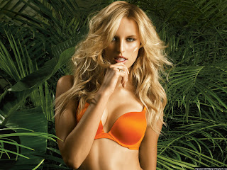 Sexy Karolina Kurkova Orange Bra Photoshot Wallpapers