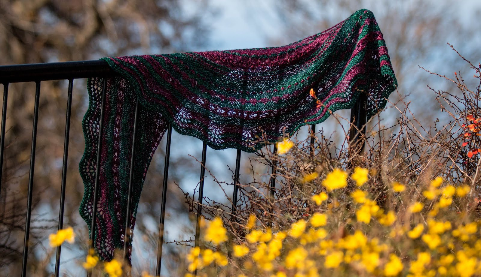 Dandelion Stitch Sampler Shawl