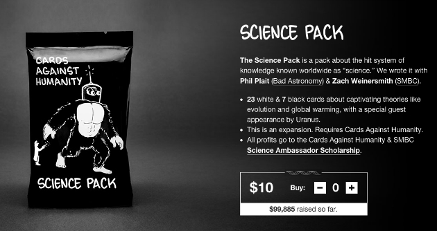 Cards Against Humanity Science Pack Picture 1