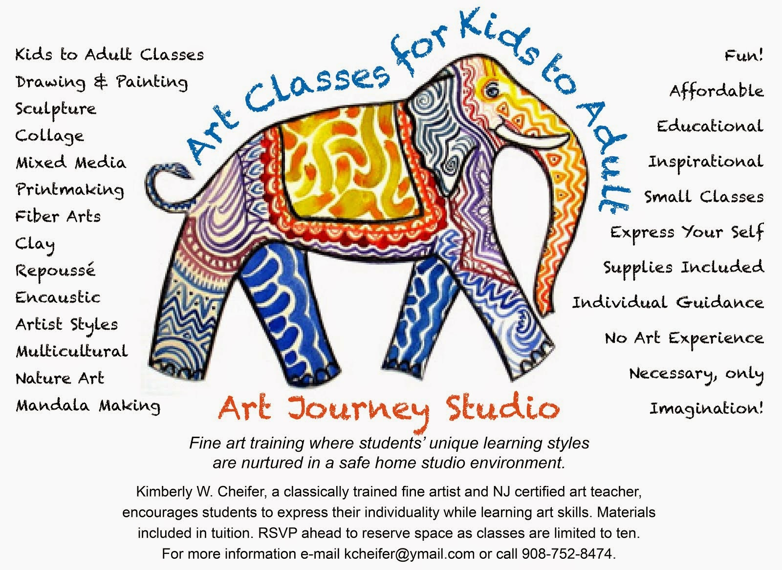 Art Classes in Annandale, Clinton Twp., NJ