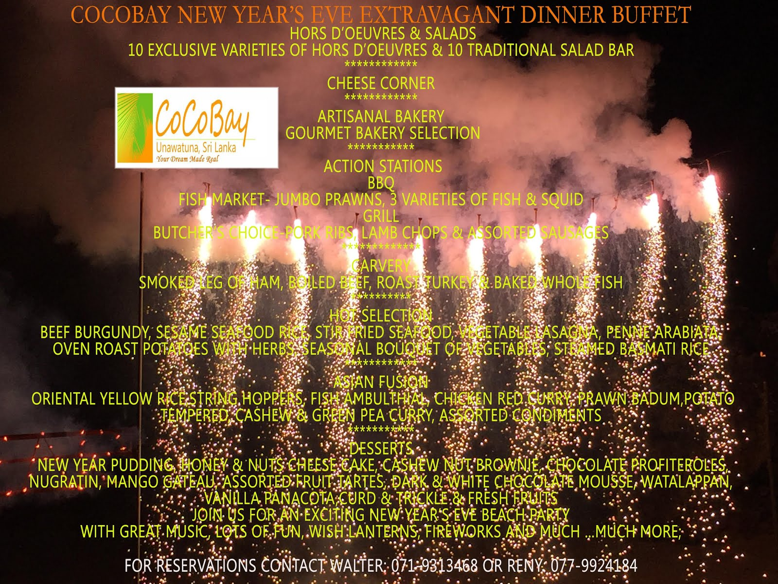 COCOBAY NEW YEAR'S EVE EXTRAVAGANT DINNER BUFFET