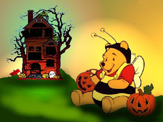 Funny Pooh Halloween Wallpaper