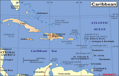 Map of Caribbean Sea Pics