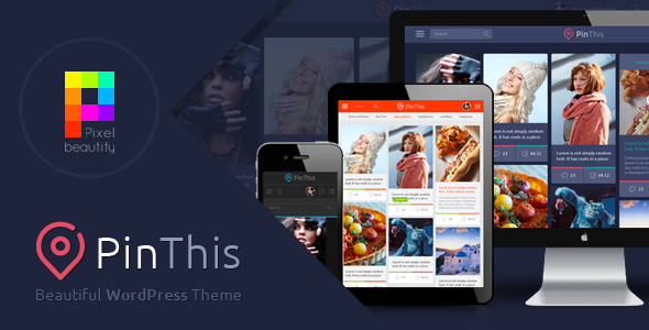 PinThis v1.4.2 - Pinterest Style Wordpress Theme