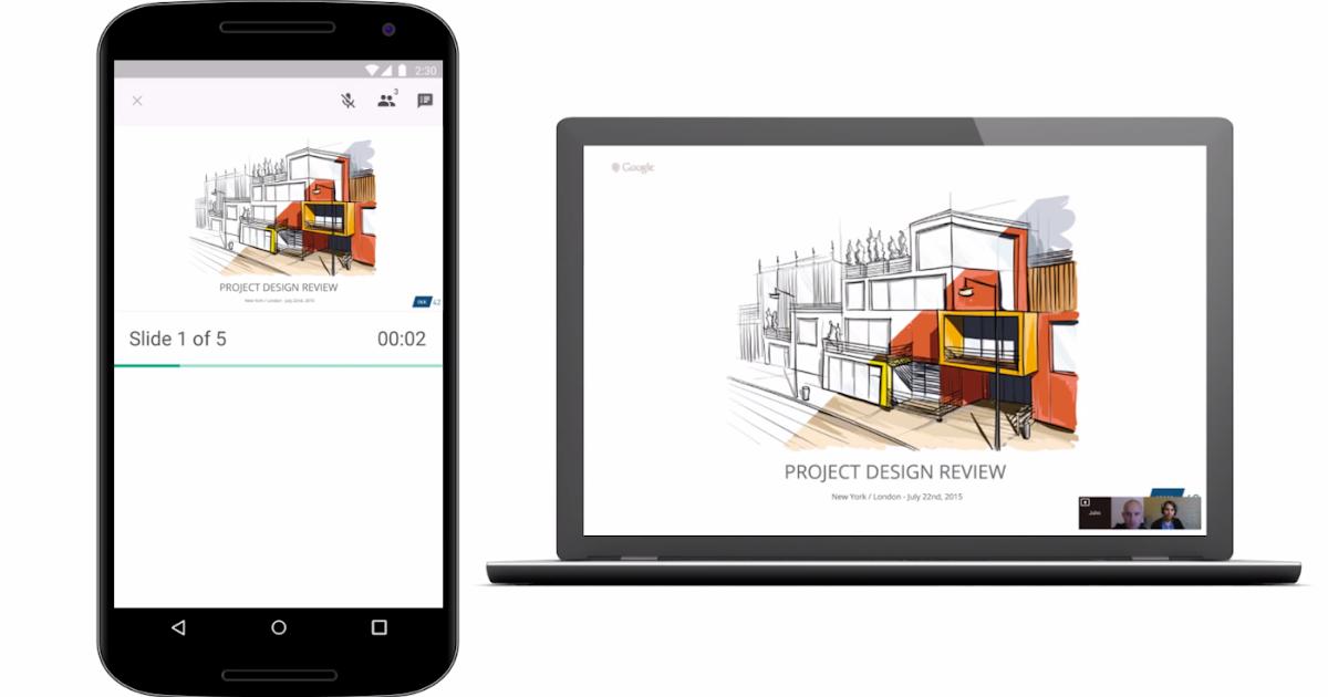 Google Slides já faz apresentações via Hangouts (e Google Keep ganha exportação de notas)