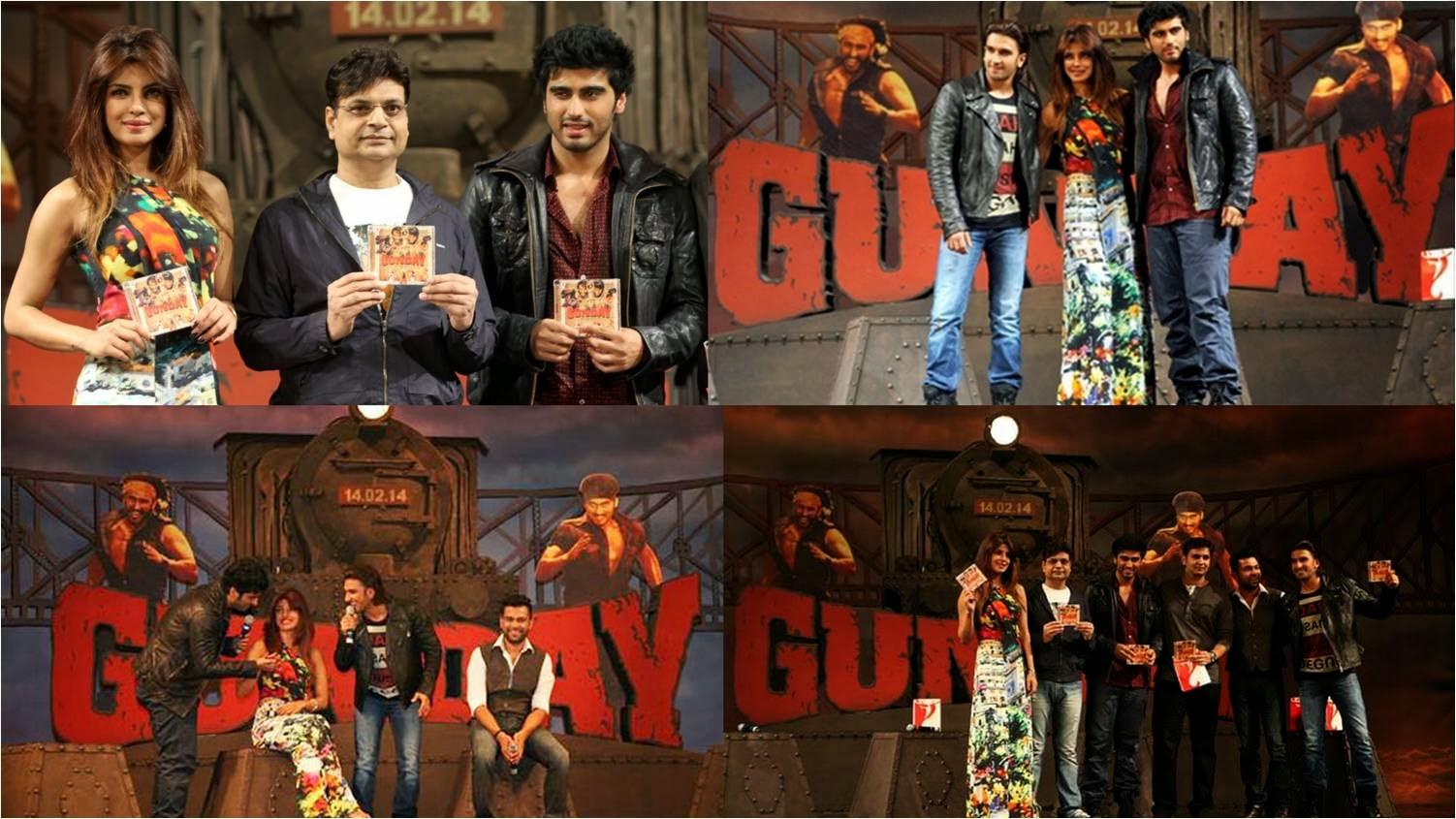 Gunday music launch event with Arjun Kapoor, Ranveer Singh and Priyanka Chopra