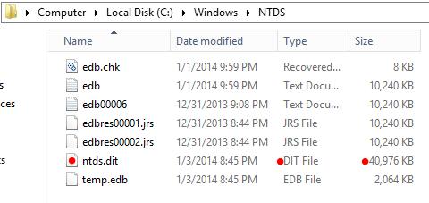 My Tech Blog: Windows Server 2012 - Active Directory - NTDSUTIL, part 2