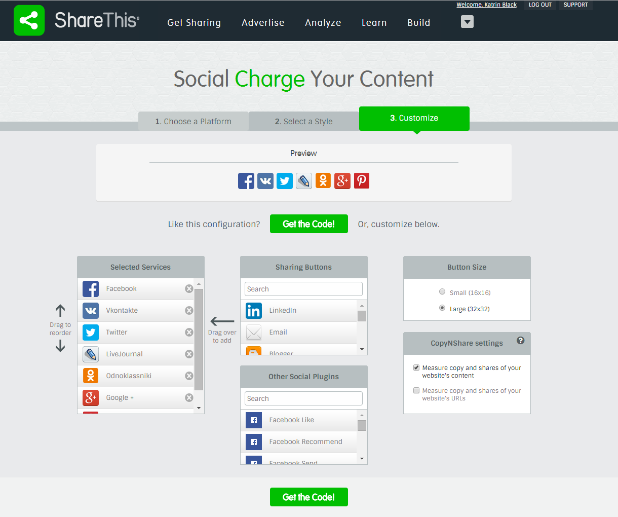 Как установить в блог кнопки социальных сетей?