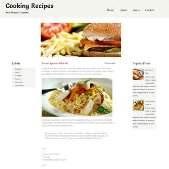 Cooking Recipes blog template. download blogger template for recipes and cooking blogs