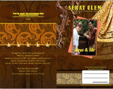 Undangan Pernikahan Batik