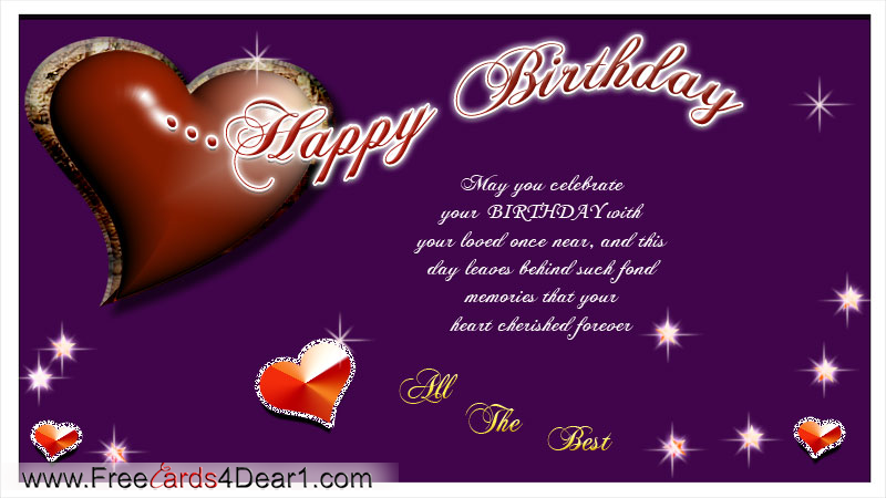 Birthday Wishes On Card