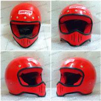 Helm Cakil Replika Simpson M50 Merah
