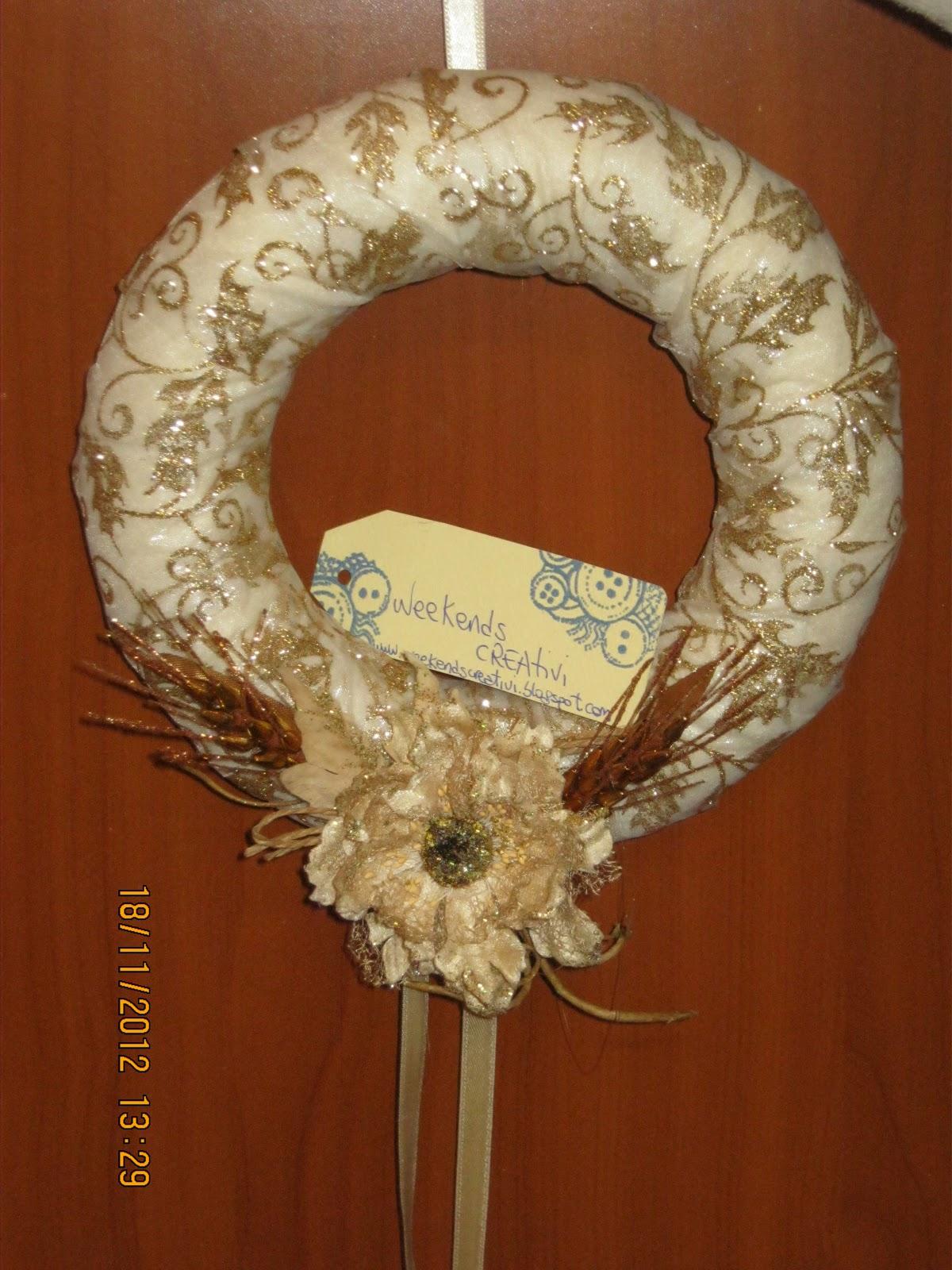 Week ends creativi decorazioni natalizie seconda ghirlanda - Decorazioni ghirlande natalizie ...