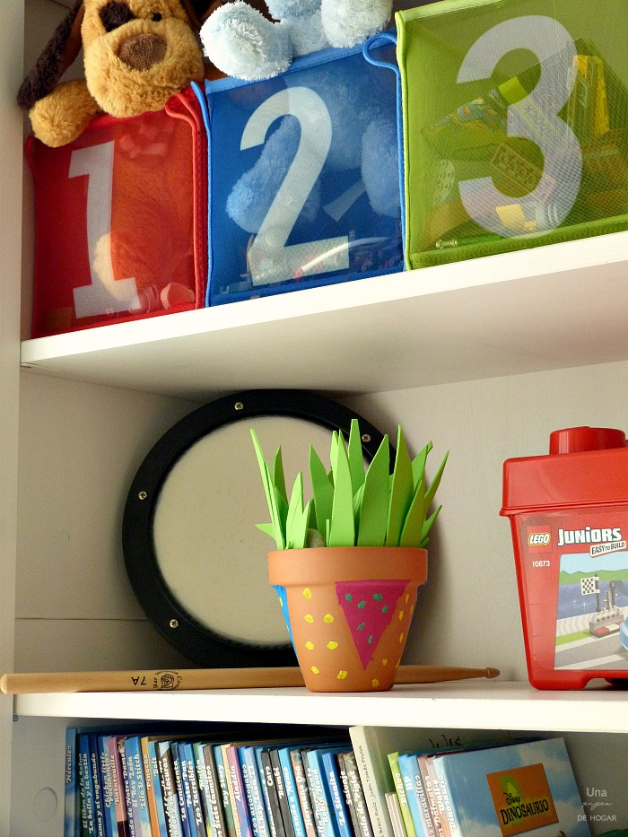 Una Pizca de Hogar: Cómo decorar macetas con niños (DIY)