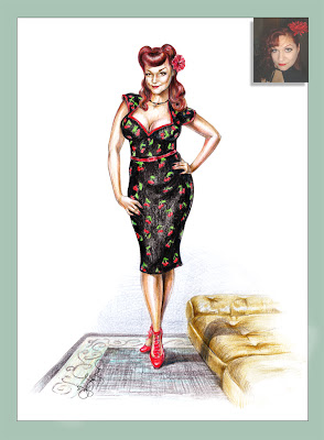 personalized pin-up gift poster