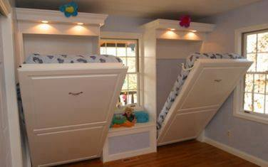 Small Bedroom Designs For Kids With Tow Drop Down Beds