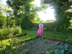 buste de la jardinière au potager