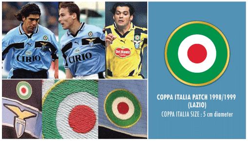 Football Teams Shirt And Kits Fan Coppa Italia Lazio 1998 99 Patch