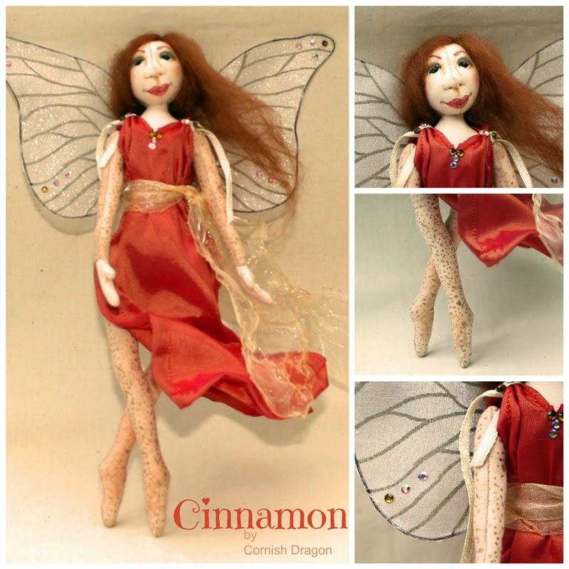 cinnamon fairy art doll