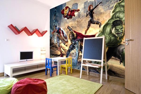 Papel pintado fotomurales infantiles marvel komar - Fotomurales habitacion juvenil ...