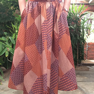 buffalo exchange patchwork skirt