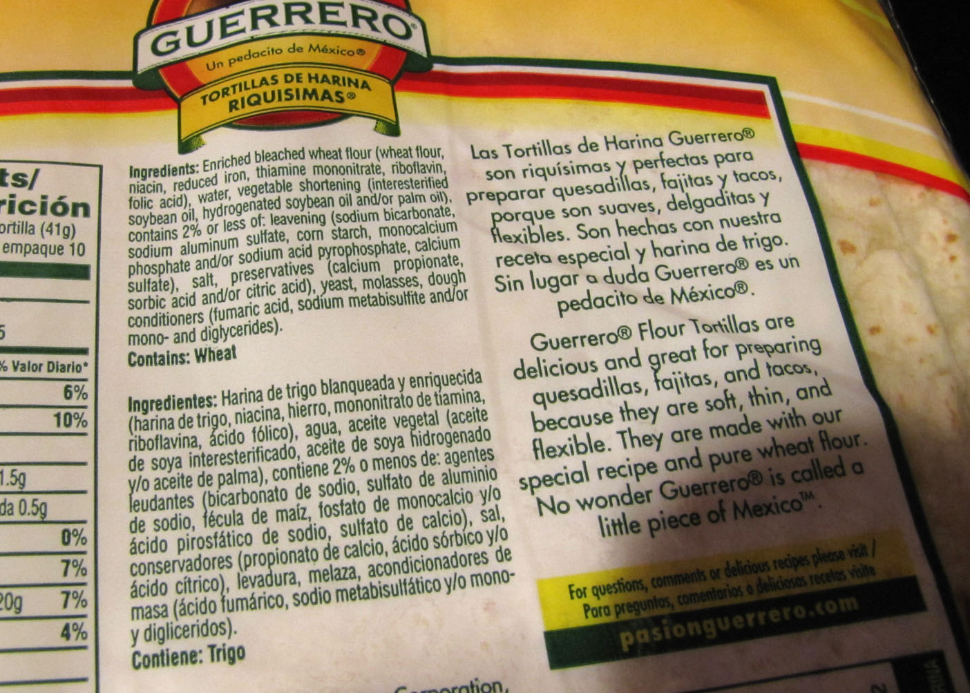 Smells Like Food In Here Guerrero Flour Tortillas