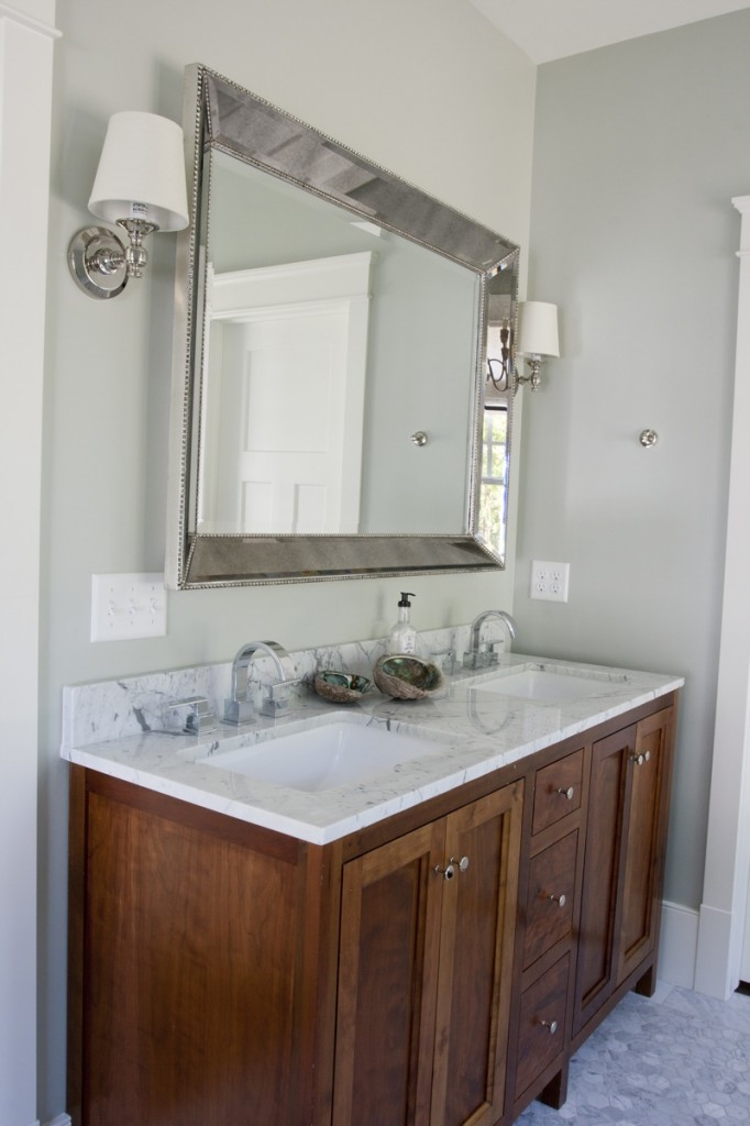 The granite gurus carrara marble master bath for Marble master bathroom