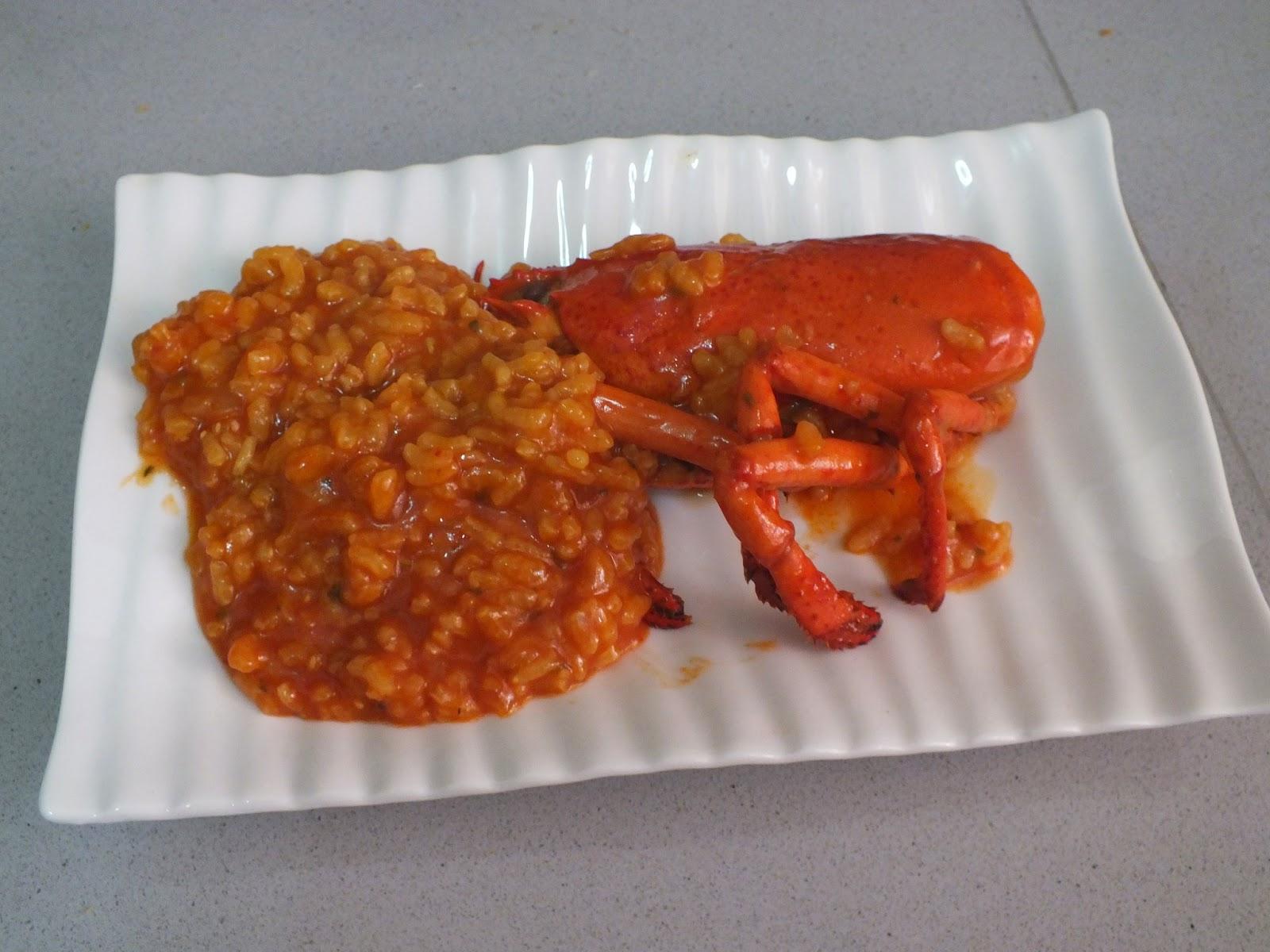 Escuela de cocina pako amor bogavante con arroz caldoso - Escuela de cocina paco amor ...