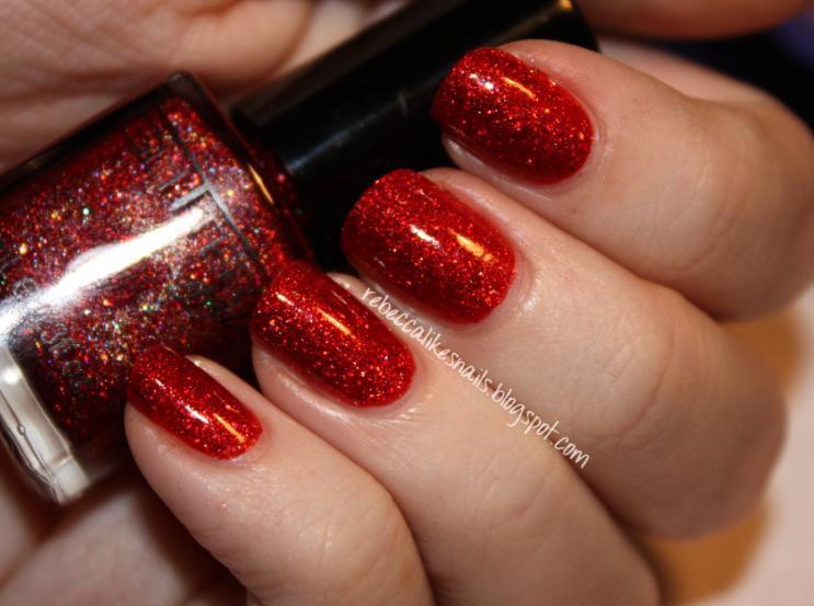Rebecca Likes Nails Glitter Gal Red Sparkle Orange Sparkle Dark Brown Sparkle
